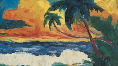 Emil Nolde, Palmer ved havet, 1914. Nolde Stiftung Seebüll© Nolde Stiftung Seebüll. Fotowerkstatt Elke Walford und Dirk Dunkelberg.
