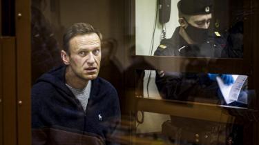 Aleksej Navalnyj for retten, efter at han kom tilbage til Rusland tidligere i år.