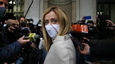 Georgia Meloni har udtrykt i et talkshow, at hun er klar til at stå i spidsen for højrefløjen, som står til at overtage magten: »Jeg er højrefløjen. Jeg er den italienske højrefløjs historie.«