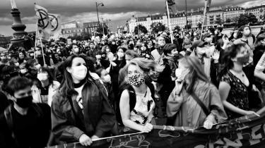 Hvis man laver en gennemgang af de danske klimaorganisationer, finder man hurtigt ud af, at det er svært at finde navne eller ansigter, der ikke er etnisk danske. Billedet er fra en klimademonstration i København lørdag den 22. maj 2021.