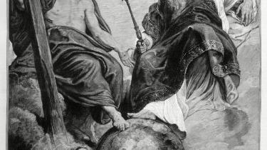 Jesus fortæller Gud om livet på Jorden efter sin korsfæstelse. Men også på anden måde er religionen blevet indhentet af den jordiske historie, hævder bogen.