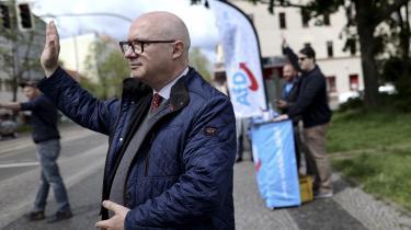 »Man må jo ikke længere sige sin mening i Tyskland,« siger AfD-manden Oliver Kirchner, her fotograferet til et kampagnearrangement i Magdeburg i delstaten Sachsen-Anhalt i slutningen af maj.