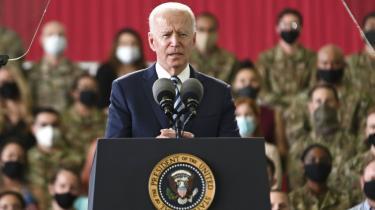 Joe Biden under besøg til G7-mødet i Storbritanien.