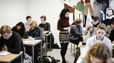 Fordelingsaftalen vil kunne ændre på nogle usunde skævheder i vores samfund, skriver Lise Richter i denne leder. Arkivfoto fra Øregaard Gymnasium.