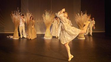 'Vita Danica' bliver til en uheldig danmarkssatire i Sargun Oshanas bizarre iscenesættelse på Aarhus Teater.