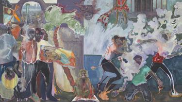Armitages enorme malerier er spækkede med intense og dirrende motiver og symbolik. De er udstillet sammen med diverse genstande og malerier fra Glyptotekets samling, så der opstår en sand tungetale mellem de mange væsensforskellige værker.