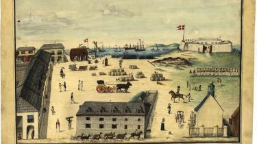 Fortet Christiansværn på Sankt Croix i en gengivelse fra 1815.
