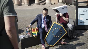 Talsperson for Foreningen imod Ulovlig Logning Rasmus Malver havde champagnen klar tirsdag, da landsretten afsagde dom.