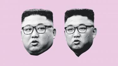 Kim Jong-un før og efter det bekymrende vægttab. Originalfoto: AP/Ritzau Scanpix