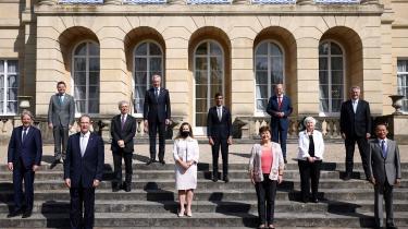 De rige landes klub, G7, får mest ud af aftalen om en fælles selskabsskat. Familiefotoet her er fra G7-mødet i London i starten af juni.