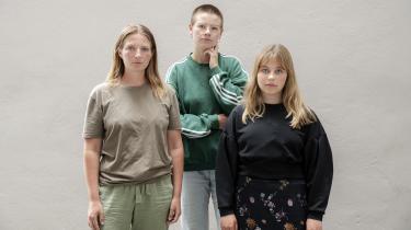 Fra venstre: Nynne Juul, Anna Bjerre og Hannah Hagens er tre unge klimaaktivister, som i en artikelrække i Information møder erfarne aktiviser for at lære af dem, hvordan de kan blive ved med at mobilisere til klimabevægelsen og presse regeringen til at leve op til sine klimaløfter.