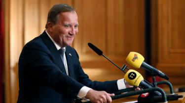 Socialdemokraten Stefan Löfven holder pressemøde, efter at det onsdag stod klart, at han atter kan danne regering, efter han for godt to uger siden som den første svenske statsminister nogensinde blev væltet ved en mistillidsafstemning.