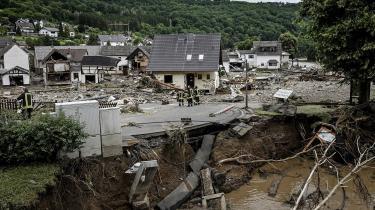 Den lille tyske by Schuld blev hårdt ramt af oversvømmelser fra floden Ahr.