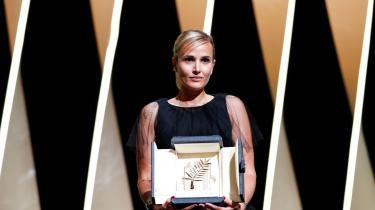 Julia Ducournau blev vinderen af Den Gyldne Palme på filmfestivalen i Cannes.