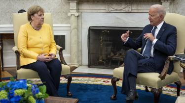 Under Angela Merkels nylige besøg i Washington gik Joe Biden med til at droppe de amerikanske forbehold med at oprette en gasledning mellem Rusland og Europa.