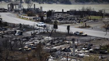 Der er intet tilbage i Lytton efter de voldsomme brande.