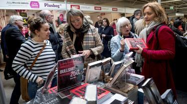 Foto fra krimimessen i Horsens. Ifølge professor og redaktør Sven Anders Johansson er tendensen er, at kun samlebåndskrimier og lydbøger kan tiltrække masserne.