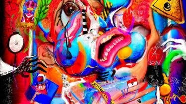 Stillbillede fra videoen 'Year 1, Age 14 ? It Hurts To Hide' af kunstneren FEWOCiOUS, der for nylig er solgt som NFT i det prestigefyldte, amerikanske auktionshus Christie's.