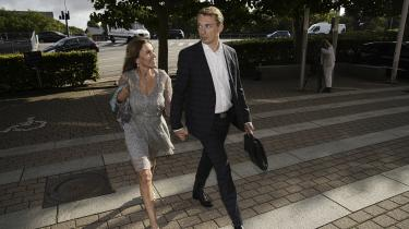 Dansk Folkepartis næstformand Morten Messerschmidt på vej til Retten i Lyngby, hvor dagen fortsatte onsdag.