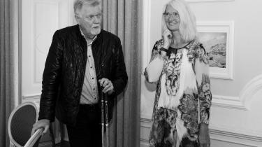 Børge Fedders med kæresten Janne Greve, 2019.