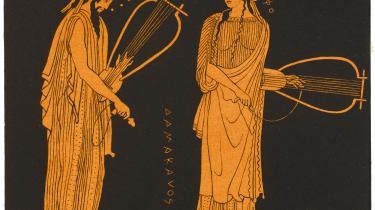 Den oldgræske digter Sapfo sammen med Alcaeus.