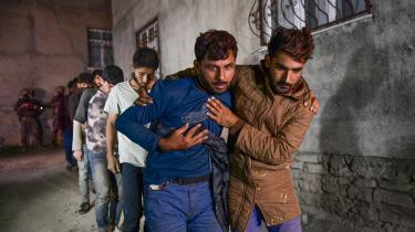 Afghanske flygtninge ankommer illegalt til den tyrkiske by Van den 21. august. De har krydset grænsen fra Iran.