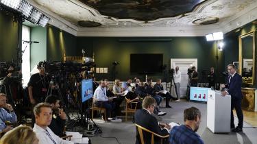 Finansminister Nicolai Wammen (S) præsenterede mandag regeringens finanslovsudspil.