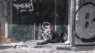 Undersøgelse viser, at der var hele 76 procent flere hjemløse i 2019 end i 2009. Det er ikke Steen på billedet. Arkivfoto