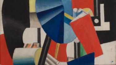 Fernand Léger er hovednavnet i udstillingen på Gl. Holtegaard. Både på grund af hans kanoniserede position i kunsthistorien og hans rolle som den ældre og mere etablerede læremester for de to øvrige. (Fernand Léger, 'Femme au miroir', (1920). Moderna Museet, Stockholm. Purchase 1948)