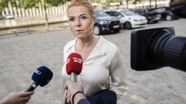 Rigsretssagen mod Inger Støjberg finder sted i Eigtveds Pakhus i København. Tirsdag optegnede forsvaret konturerne af, hvordan de vil argumentere for en frikendelse.