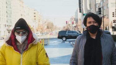 Spike Lee sammen med Washington, DC's, borgmester, Muriel Bowser, iinstruktørens nye dokumentarfilmserie, 'NYC Epicenters 9/11→2021½'.