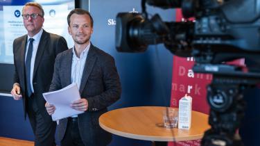Skatteminister Morten Bødskov (S) og beskæftigelsesminister Peter Hummelgaard (S) holdt torsdag pressemøde om flere i arbejde og billigere grøn el, som er del af regeringens udspil 'Danmark kan mere'.