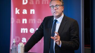 Skatteminister Morten Bødskov (S) præsenterer regeringens reformudspil 'Danmark kan mere I', som blandt andet indeholder et forslag om at hæve beskatningen af aktiegevinster fra 42 til 45 procent.