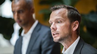 Beskæftigelsesminister Peter Hummelgaard fremlægger sammen med udlændinge- og integrationsminister Mattias Tesfaye regeringens reformudspil 'Danmark kan mere I'.