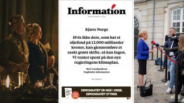 I denne udgave af Radio Information spørger vi, hvorfor Information skal fælde dom over norsk klimapolitik. Vi hører hvordan det gik for Støjberg i vidnesskranken. Og vi taler om det historiske retssalsdrama Margrethe den Første