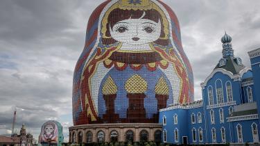Kina gør nu en indsats for at grimme bygninger som for eksempel dette hotel i det indre Mongoliet ikke længere vil blive bygget.