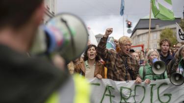 Global klimastrejke i København i 2019, hvor adskillige tusinder i september måned gik på gaden i protest.