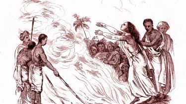 Pointens i bogens beskrivelse af den britiske kolinimagts forbud mod de traditionelle indiske enkebrændninger er ikke et forsvar for skikken, men at briterne fastholdt kvindernes stemme som ubetydelig.