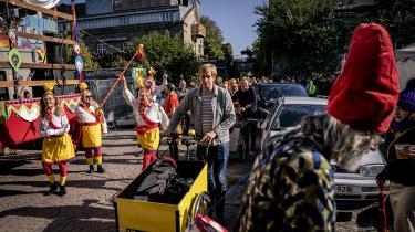 Christiania markerede onsdag sin 50-årsfødselsdag med en parade fra fristaden til Rådhuspladsen.