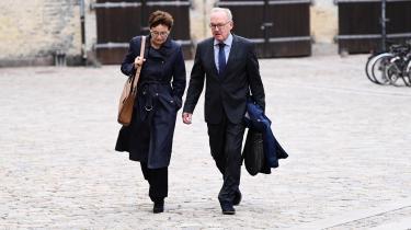 Forhenværende departementschef Uffe Toudal Pedersen på vej ind til tiende dag i Rigsretssagen mod Inger Støjberg.