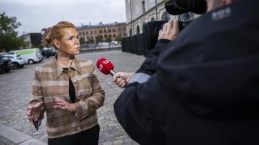 Inger Støjberg ankommer til Eigtveds Pakhus, hvor rigsretssagen mod den tidligere integrationsminister foregår.