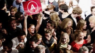 Unge socialdemokrater holder valgfest i Vega, 2011.