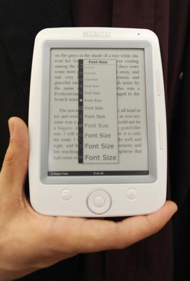 Gyldendal vil bruge e-bogs-læseren Cybook Opus til at komme ind på markedet for   e-bøger.