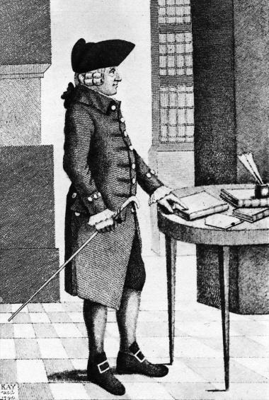 Ifølge Adam Smith var det sympatiske både den gode hensigt og den kloge, fremsynede handling med blik for konsekvensen. Illustration: John Kay/Lebrecht Authors