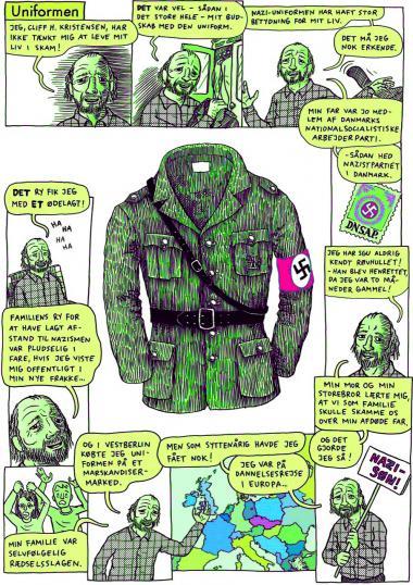 Illustrationen er fra 'Cliffs monologer', hvor Krarup får udfoldet sin sociale satire