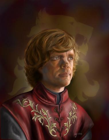 Karaktererne fra serien 'Game of Thrones' er nogle af de fiktive figurer, der bliver flittigt tegnet og videreudviklet på fansites på nettet. Her er det Majo Herrero, der har tegnet Tyrion Lannister. Illustration: Majo Herrero