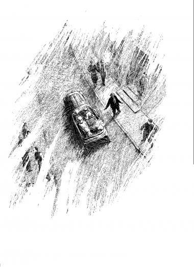 'Gavrilo Princip' er en historie om diplomatiske intriger, om ungdommelig idealisme og politisk kynisme. Illustration fra bogen