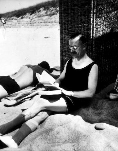 Den sarte, elskværdige og betænksomme Thomas Mann i sit schweiziske eksil.