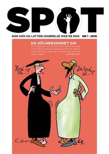 Seneste forside af satirebladet Spot.