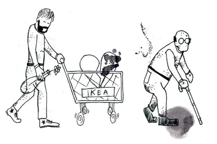 1fdc8caa953 Markeringer af livets store overgange er flyttet fra kirken til Ikea. Her  købes inventar til